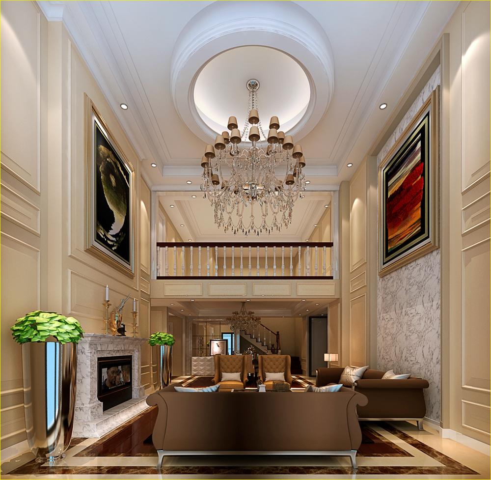 复式别墅200平米美式风格效果图欣赏!_装饰建材_华侨