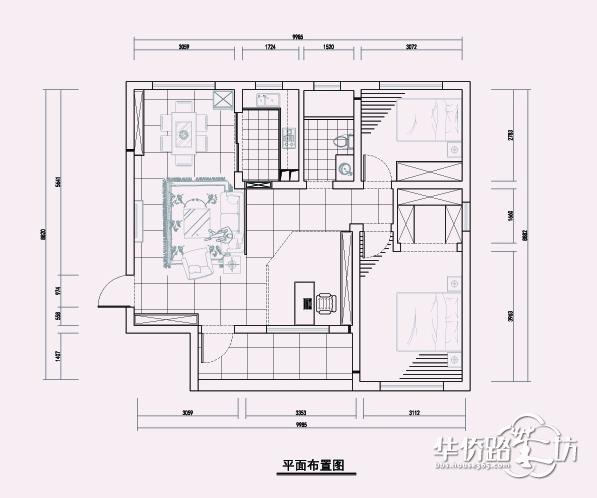 天琪福苑户型解析出租房装修