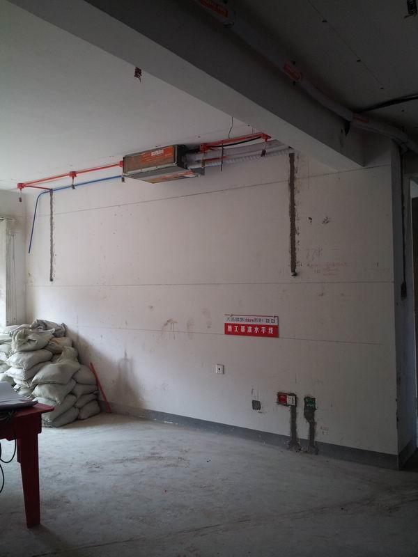 木工阶段 吊顶:轻钢龙骨吊顶及木工板挂边