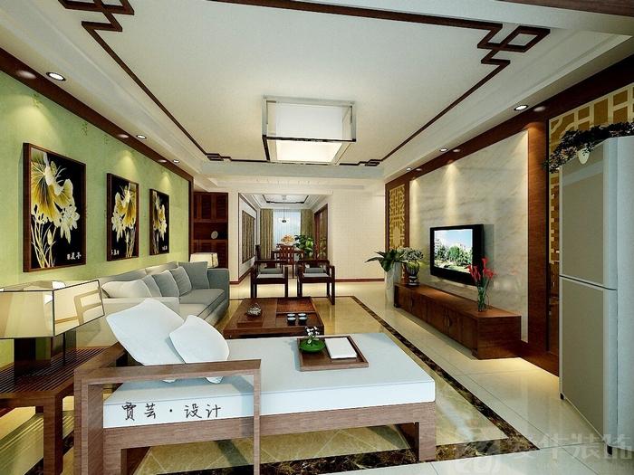 沙发背景木线条装饰效果图欧式