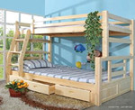 [名邦家具]松木箱式子母床