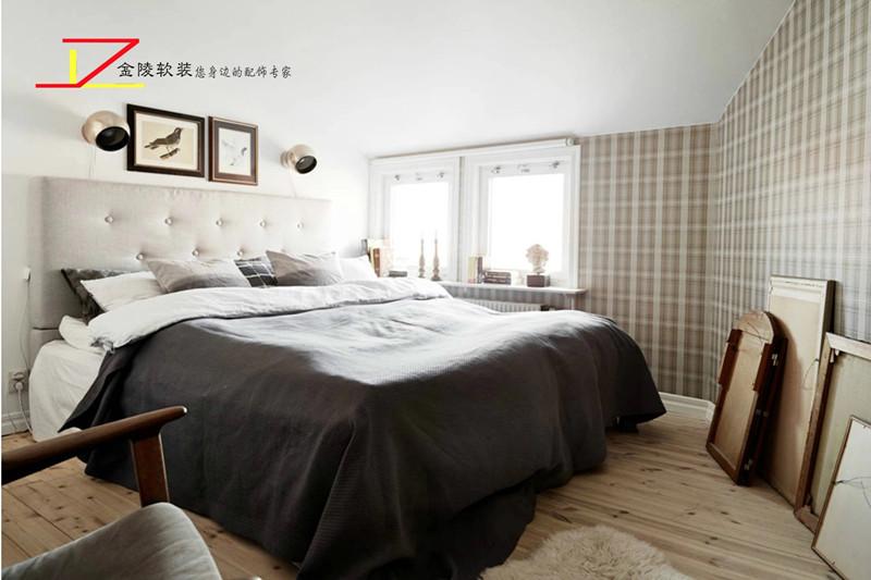 房间过道地面黑白陵行瓷砖装修效果图