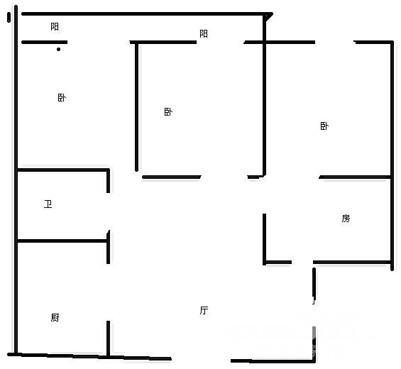 武夷路经典大户型好房四室一厅三间朝南29中学区房