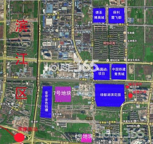 中国铁建江南国际城交通图