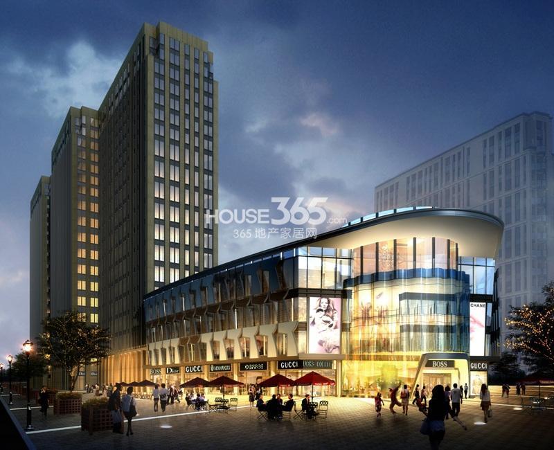 中国铁建国际公馆酒店式公寓与商业建筑效果图