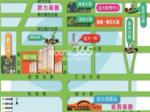 海富绣园交通图
