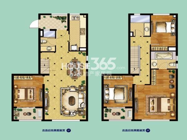 中航樾公馆户型图B2四室两厅三卫约127平