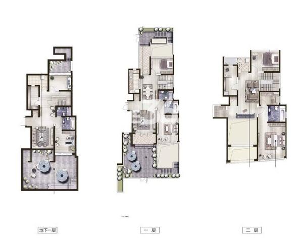 保利达江湾城12B户型299.26平户型图