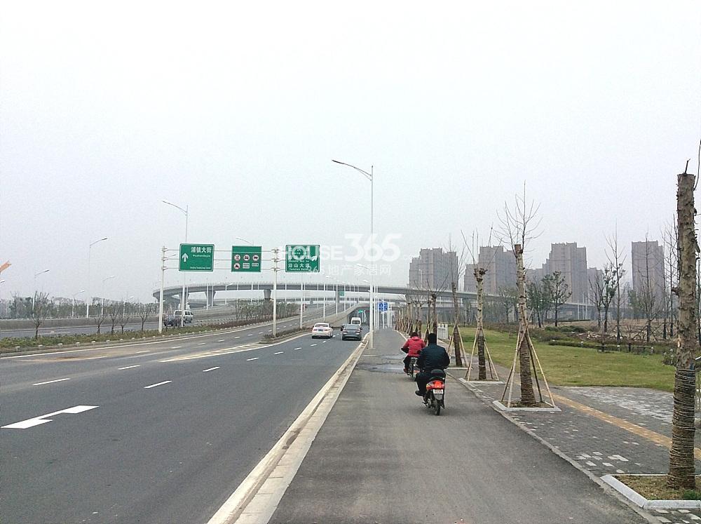 纬三路隧道在浦珠路上的高架(3.19)