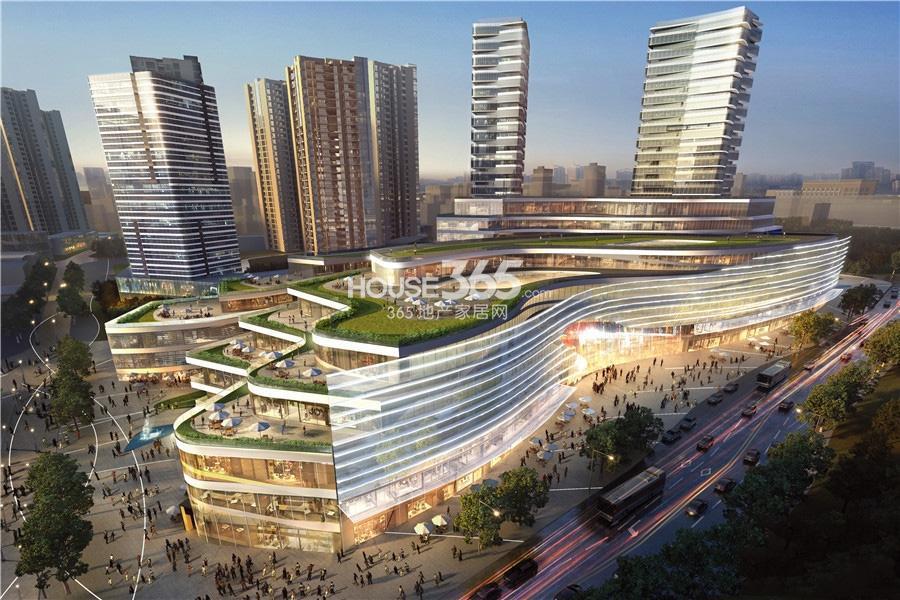 环球时代广场商业透视效果图_重庆环球时代广场_重庆