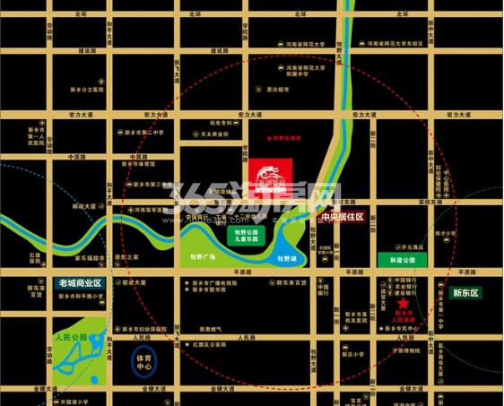 龙湖景庭交通图