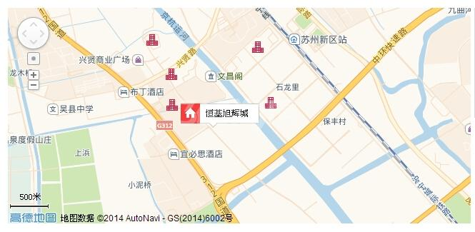 恒基旭辉城交通图