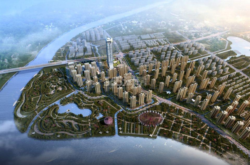 扬州国际公馆鸟瞰图