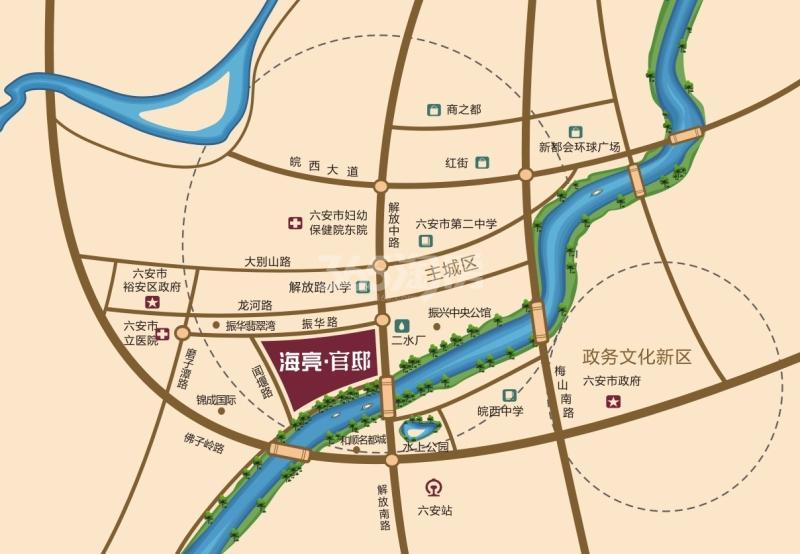 海亮官邸交通图