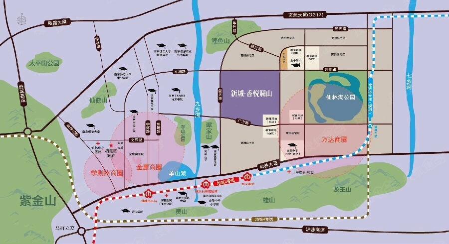 新城香悦澜山交通图