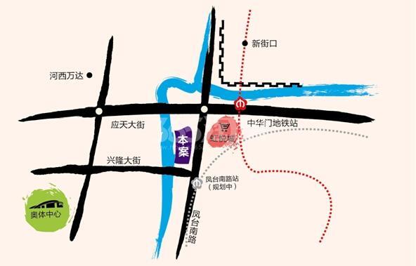 禹洲首府区位图