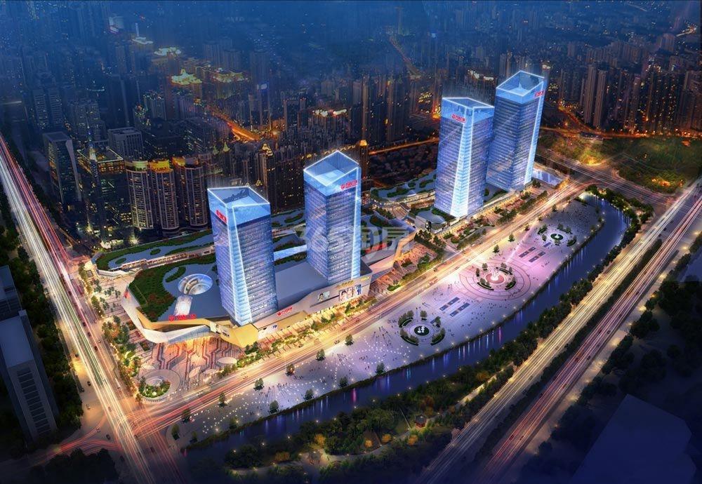 杭州万达广场俯视图