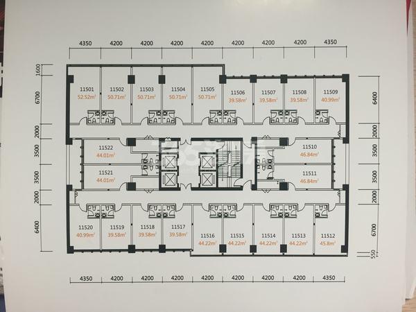 国润城A315层整层面积979.2平米