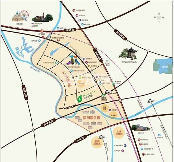 亿利华彩城交通图