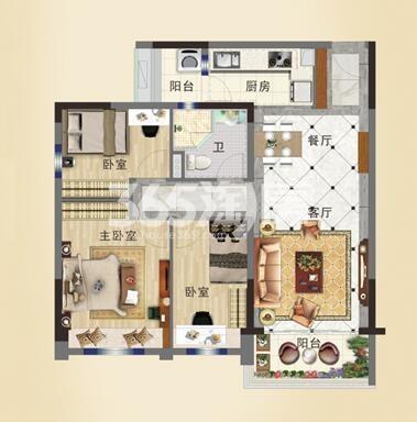 碧桂园城市花园YJ95T-B户型图