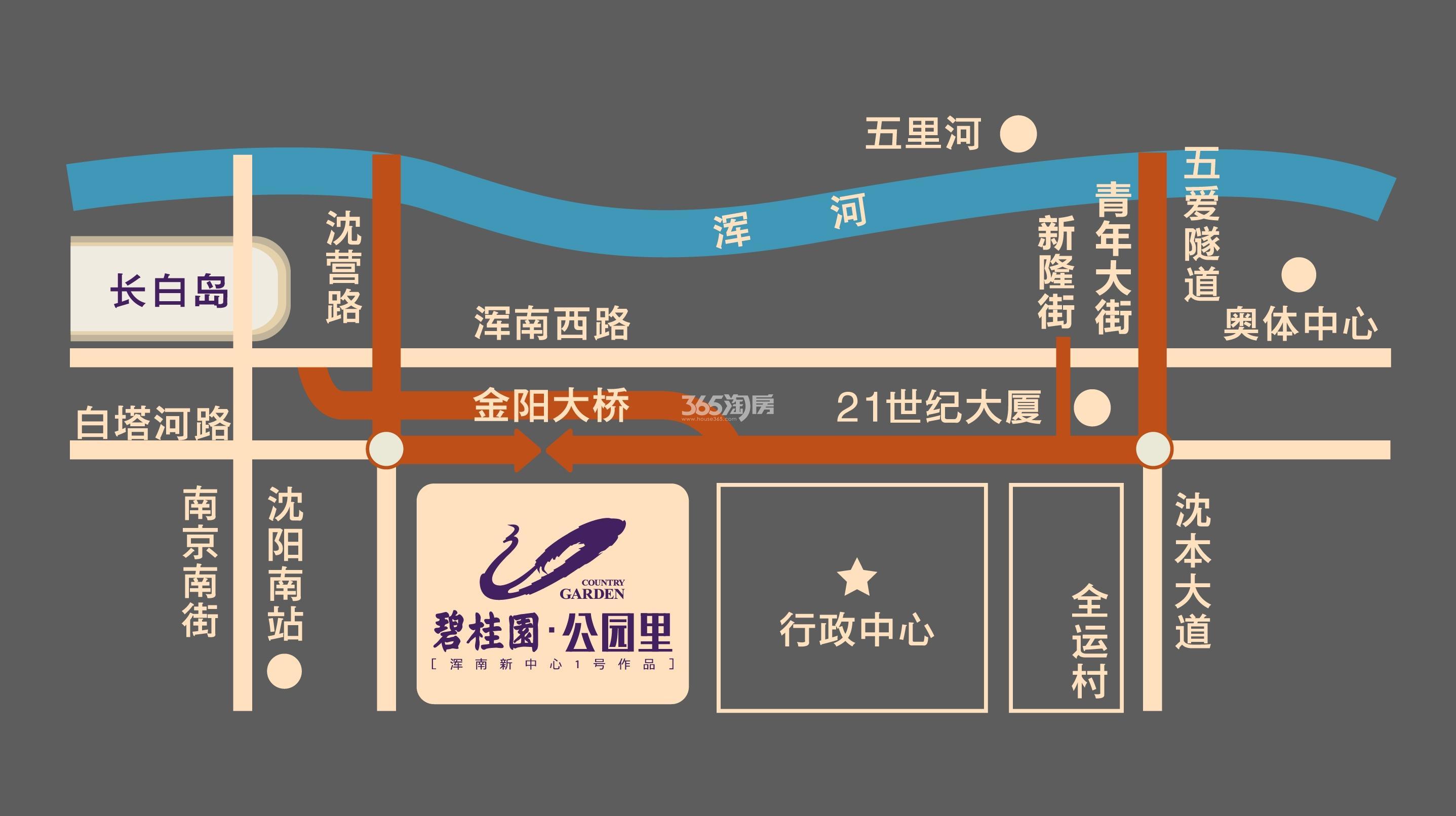 碧桂园公园里交通图