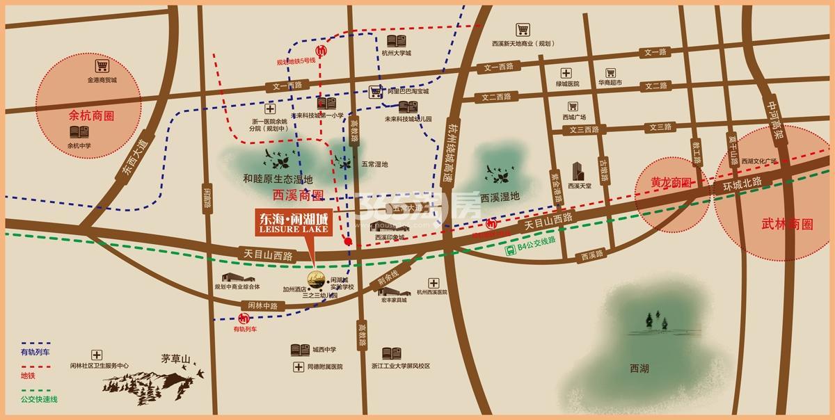 东海闲湖城玉屏蓝湾交通图