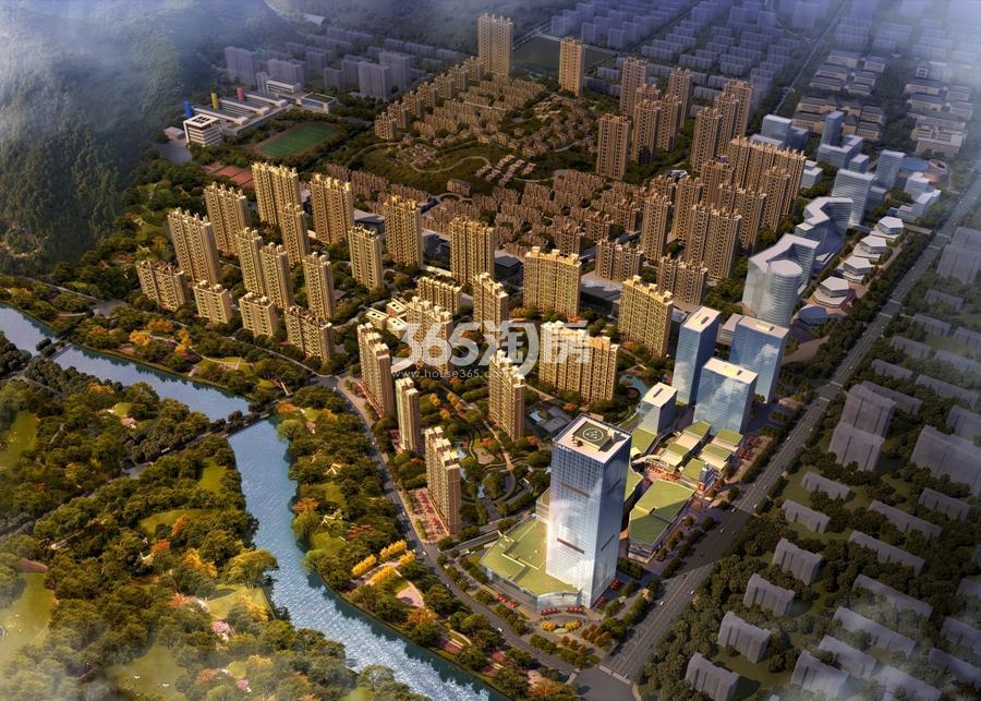 越秀星汇城项目鸟瞰图