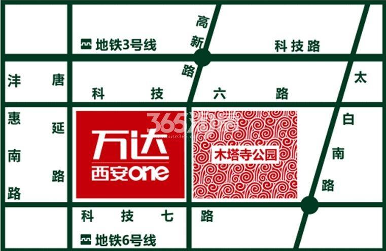 万达西安ONE交通图