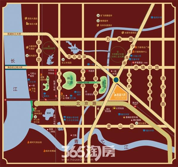 金都檀宫项目区位图