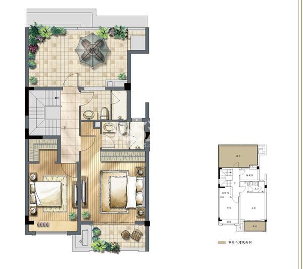 建发独墅湾A3户型四层