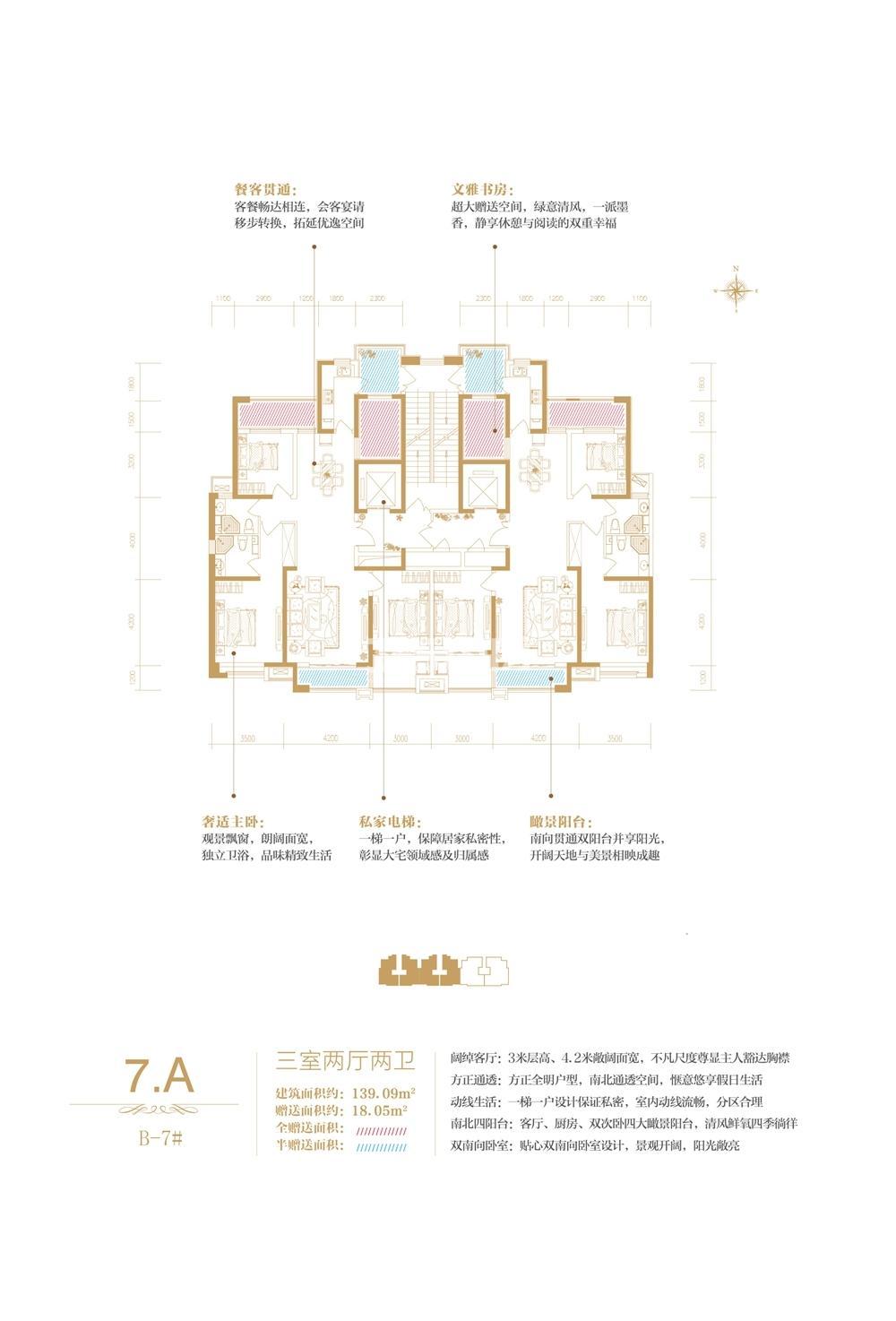 B-7#楼王7A户型