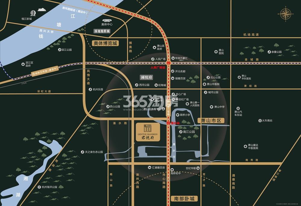 旭辉珺悦府交通图