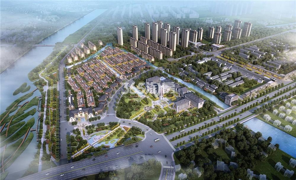 新江北孔雀城天赋澜湾鸟瞰图