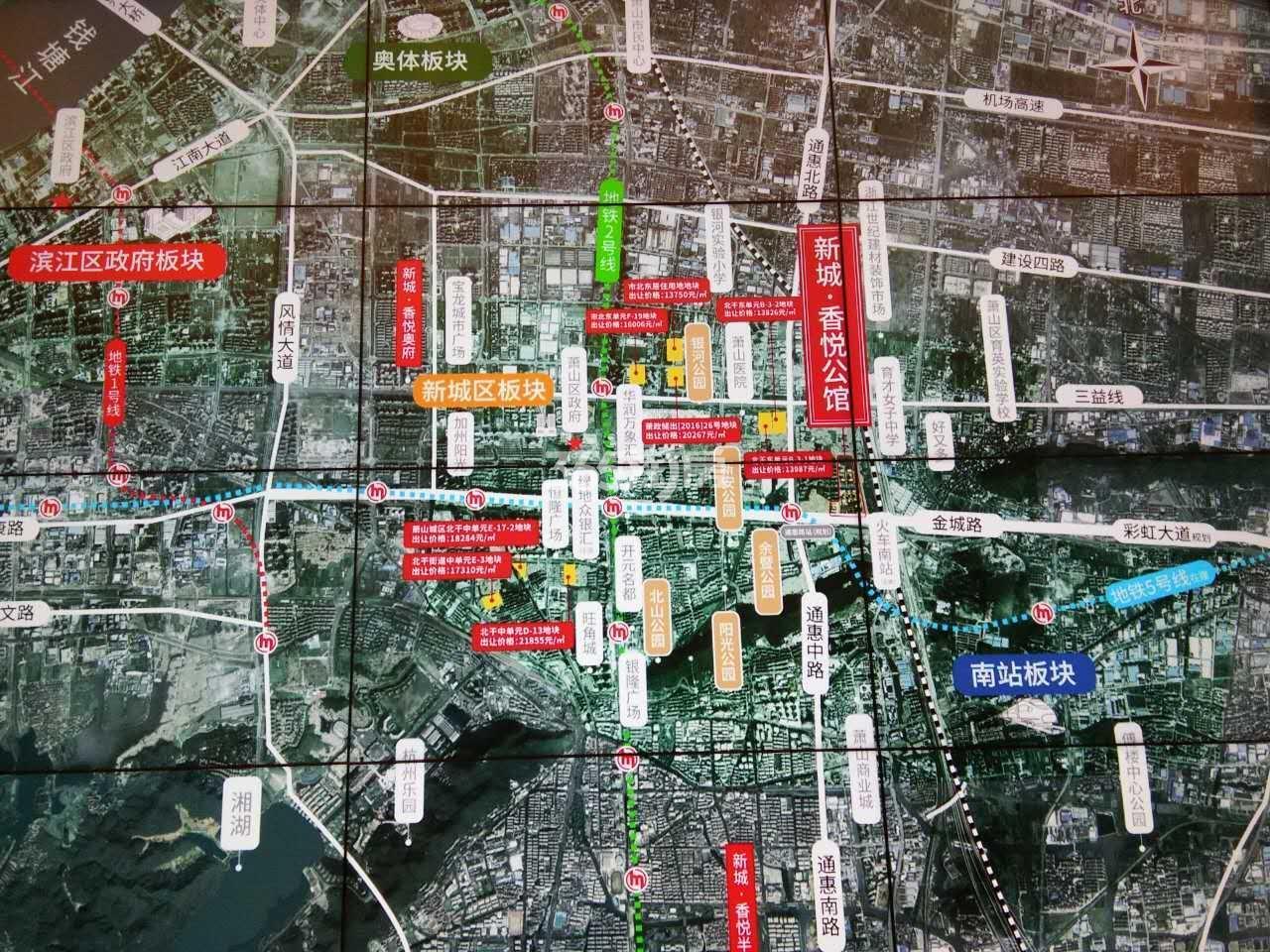 新城香悦公馆交通图