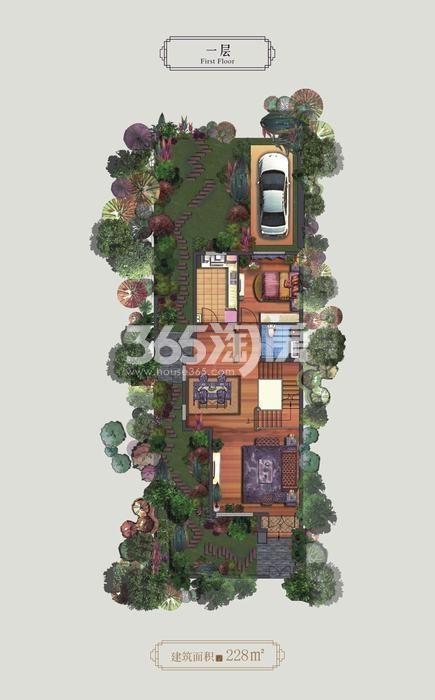 永威高新紫园一层4室4厅5卫1厨 228.00㎡