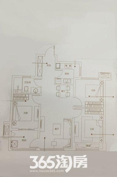 万科未来之光85㎡三室两厅A户型