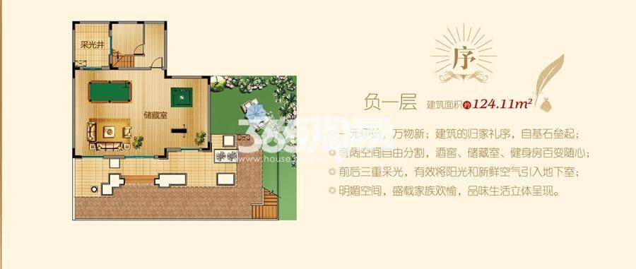 凤鸣湖公寓双拼Ⅱ户型图-负一层