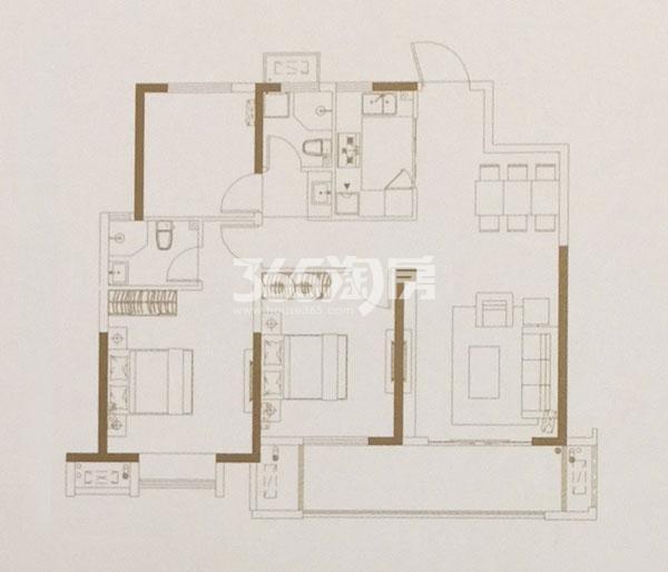 高层115㎡三室