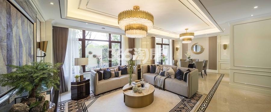 新城香悦公馆P2户型图180方样板房——客厅