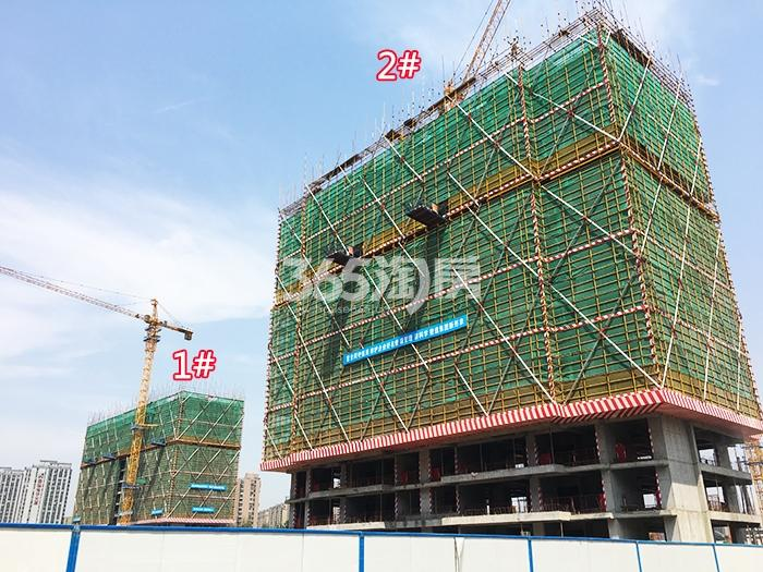 2017年5月底首开杭州金茂府1、2号楼实景
