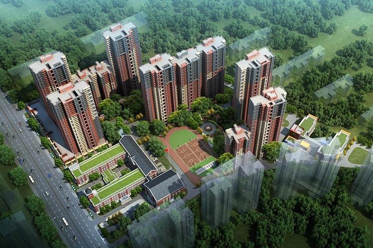 华远海蓝城6期鸟瞰图