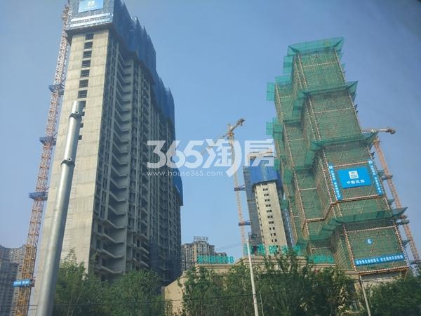 世茂时光里7#、6#、4#楼超高层工程实景(2017.7摄)