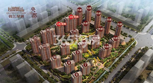 钱江绿洲鸟瞰图