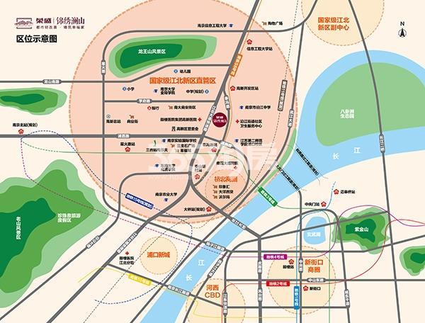 锦澜府交通图