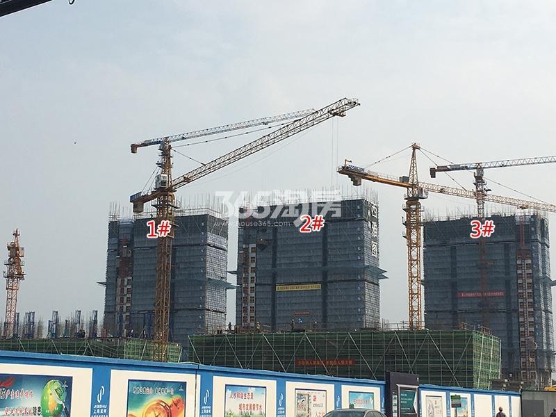 万科融信西雅图1-3号楼实景图(2017.7)