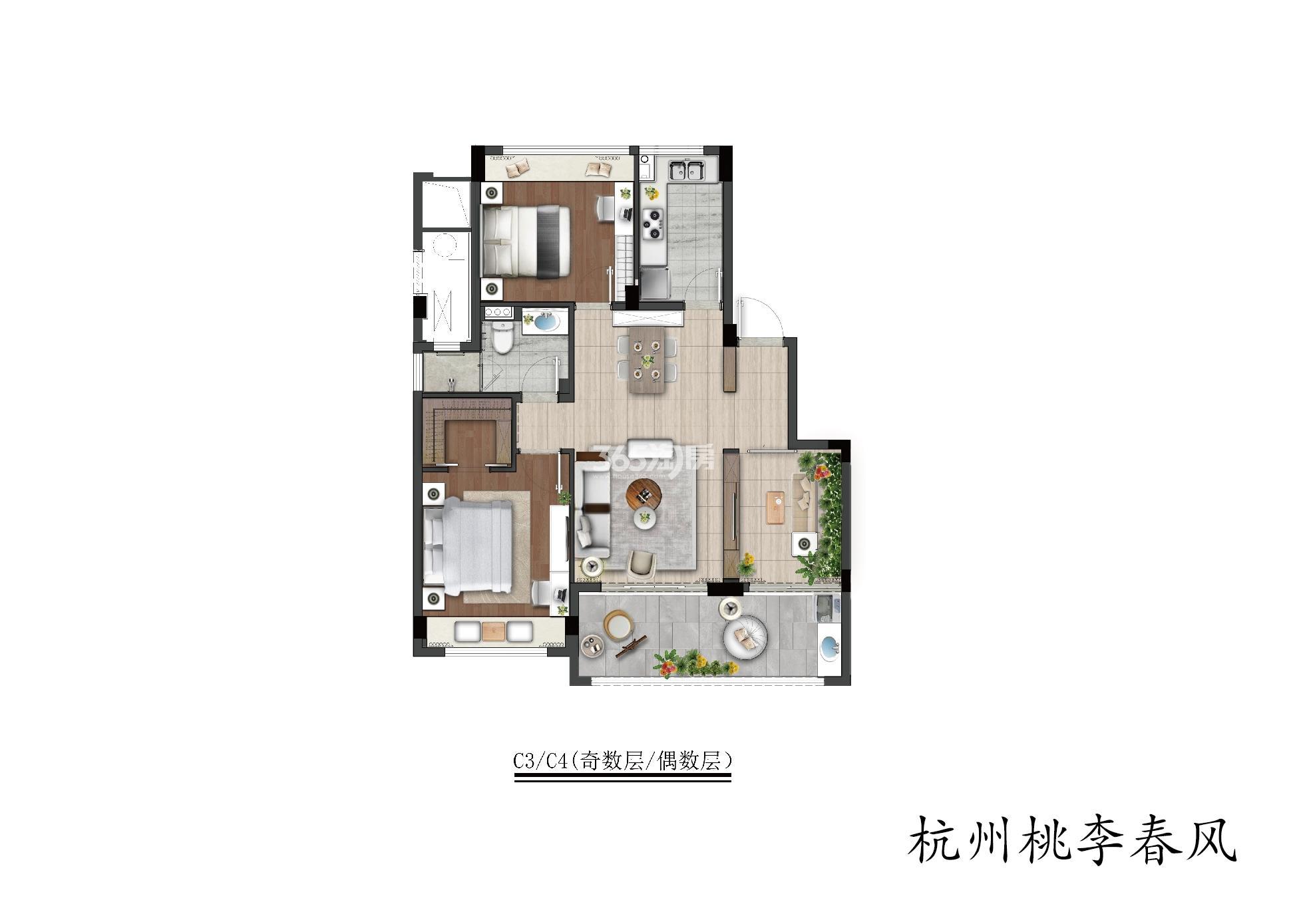 桃李春风C3/C4(奇数层/偶数层)洋房