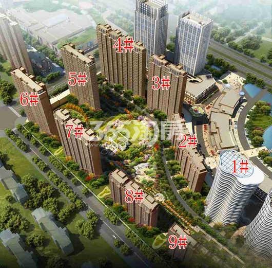 新乡宝龙广场鸟瞰图