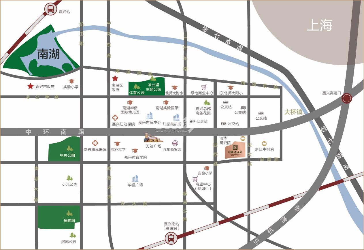 中洲·花溪地交通图