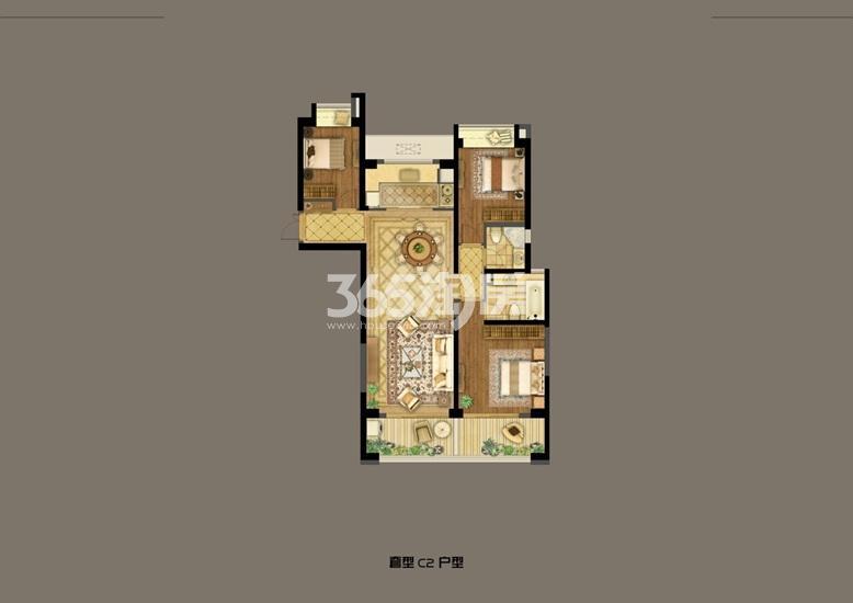 深业滨江半岛2号楼C户型139.45㎡