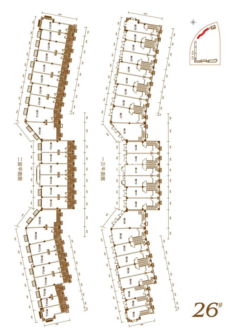 华邦观筑里26#楼一、二层商铺平面图A4-06户型